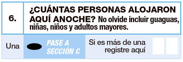Pregunta 6, 6a y 6b: Hogar Censal – Censo 2017 – Todos Contamos